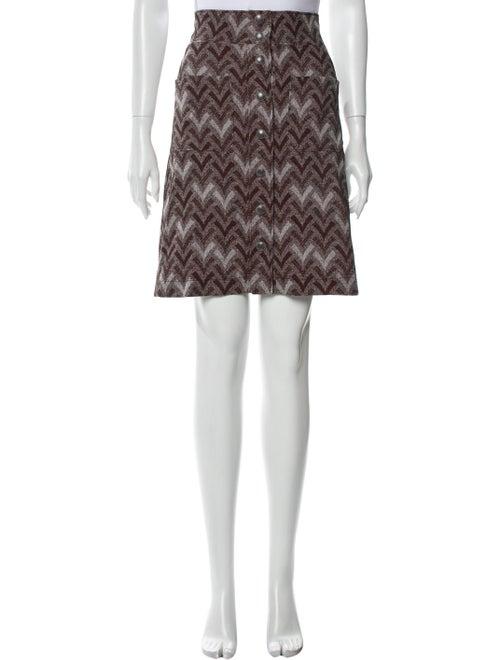 Acne Studios Printed Knee-Length Skirt Red