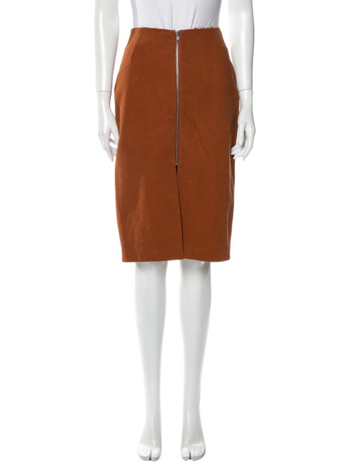 Acne Studios Knee-Length Skirt Brown