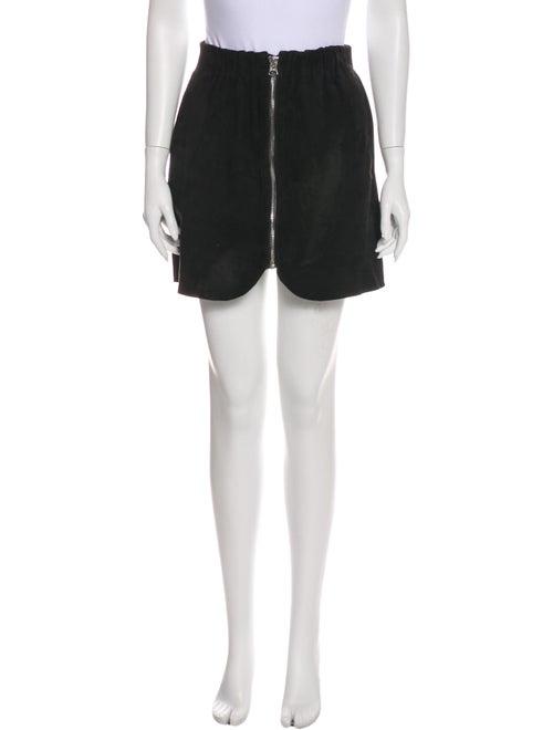 Acne Studios Lamb Leather Mini Skirt Black