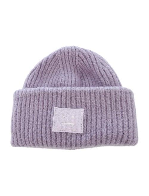 Acne Studios Wool Knit Beanie Purple