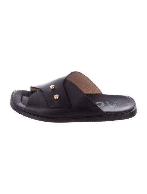 Acne Studios Leather Slides Black