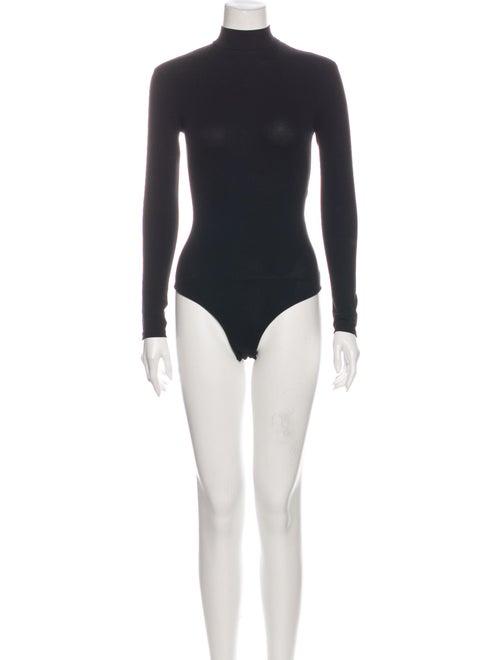 Acne Studios Turtleneck Long Sleeve Bodysuit Black