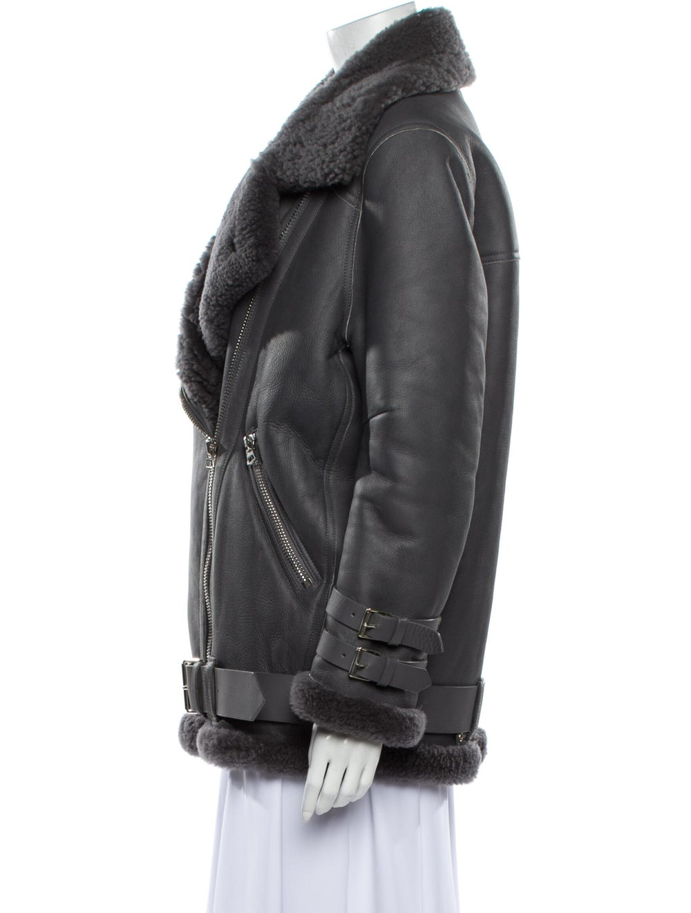 Acne Studios Lamb Leather Coat Grey - image 2