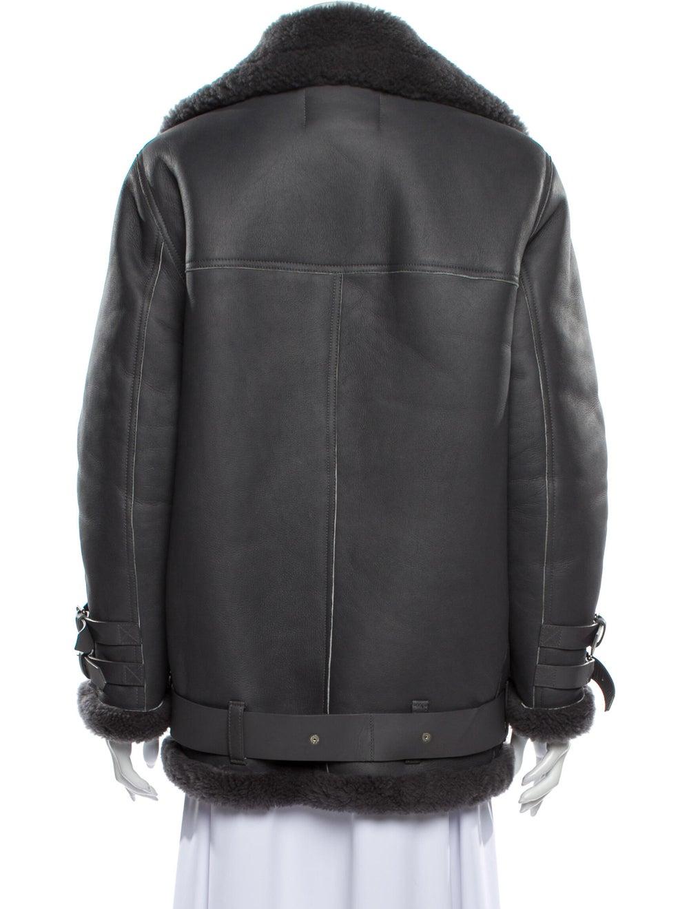Acne Studios Lamb Leather Coat Grey - image 3