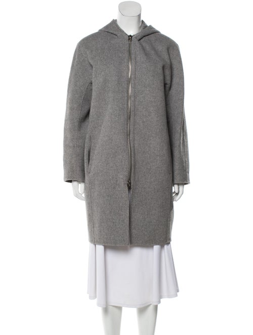 Acne Studios Wool Knee-Length Coat Grey