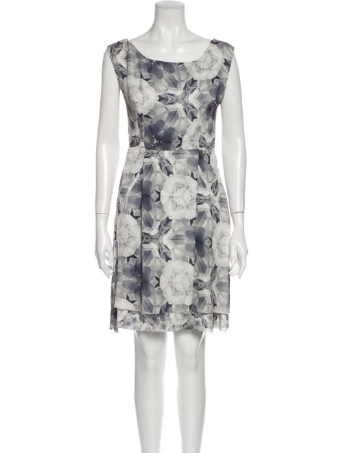 Acne Studios Floral Print Knee-Length Dress Grey