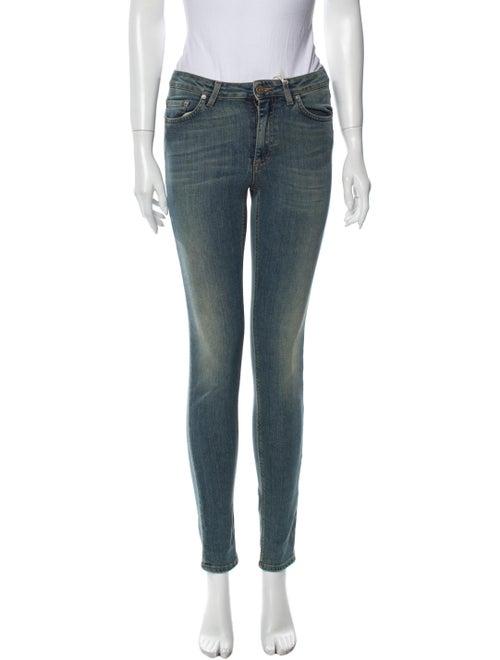 Acne Studios Mid-Rise Skinny Leg Jeans Blue
