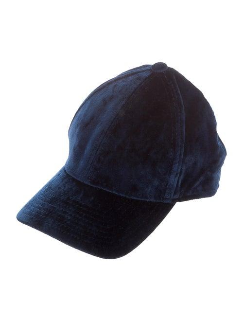 Acne Studios Velvet Baseball Cap navy