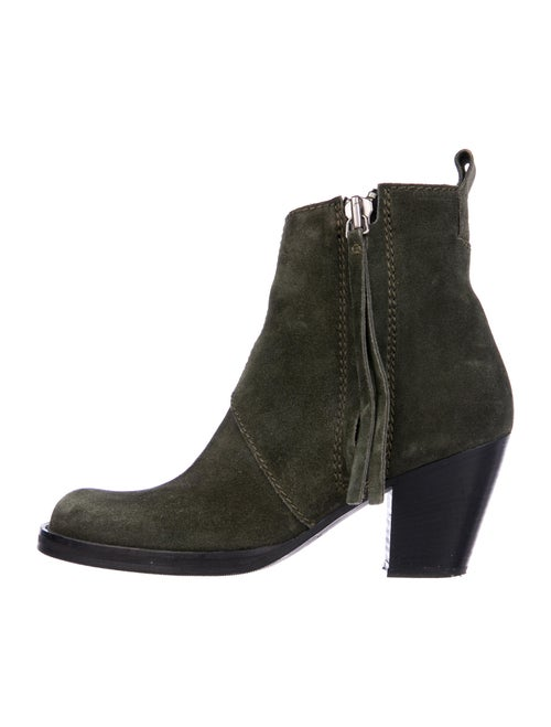 Acne Studios Suede Boots Green