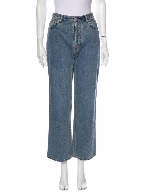 Acne Studios High-Rise Wide Leg Jeans Blue