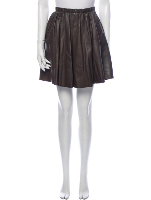 Acne Studios Leather Mini Skirt Brown - image 1