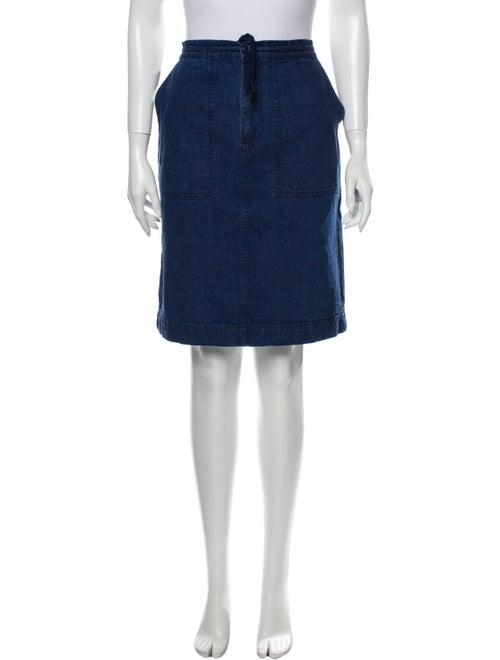 Acne Studios Knee-Length Skirt Blue