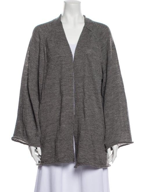 Acne Studios Alpaca Open Front Sweater Grey