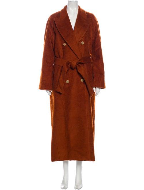 Acne Studios Mohair Trench Coat Orange