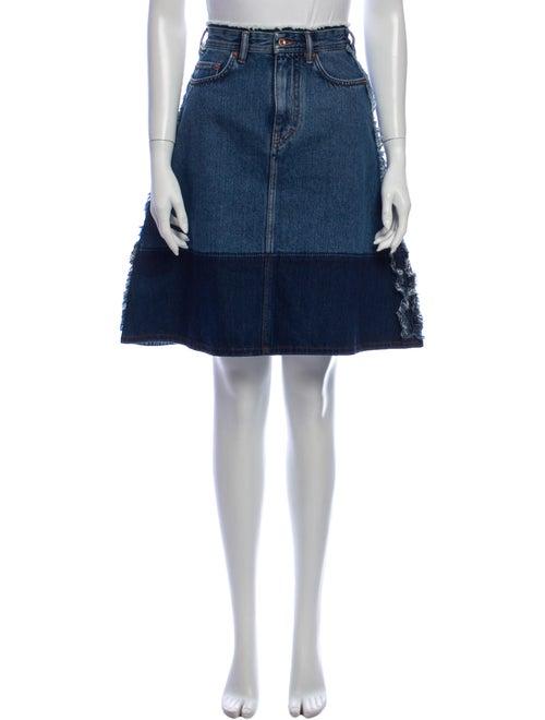 Acne Studios Colorblock Pattern Knee-Length Skirt