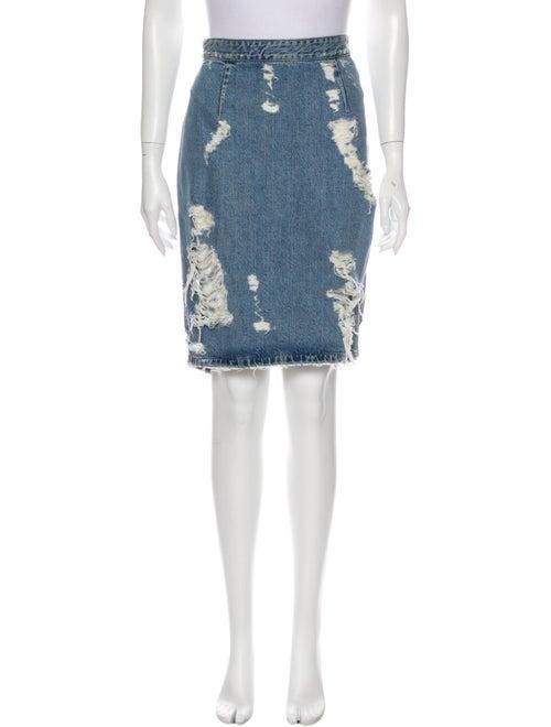 Acne Studios Cutout Accent Knee-Length Skirt Blue