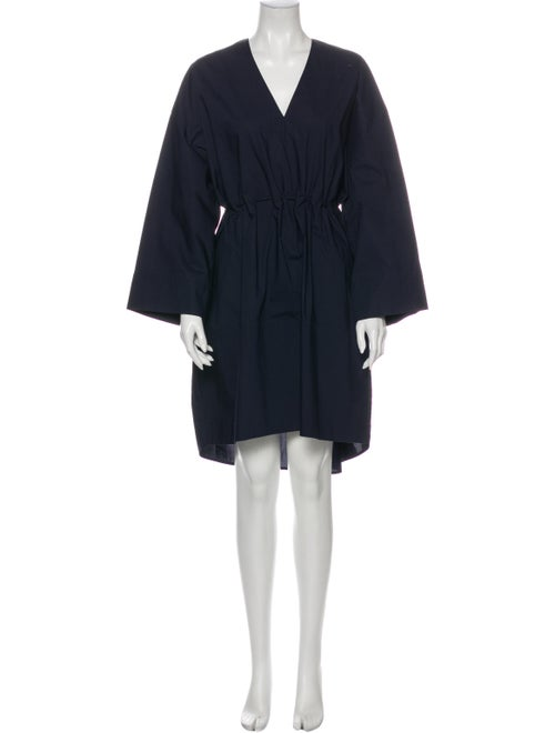 Acne Studios V-Neck Knee-Length Dress Blue