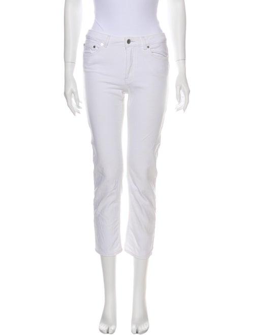 Acne Studios Mid-Rise Straight Leg Jeans White