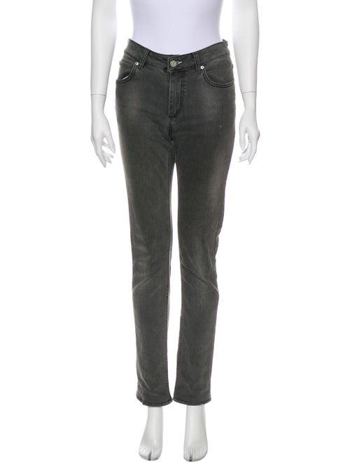 Acne Studios Mid-Rise Straight Leg Jeans Grey