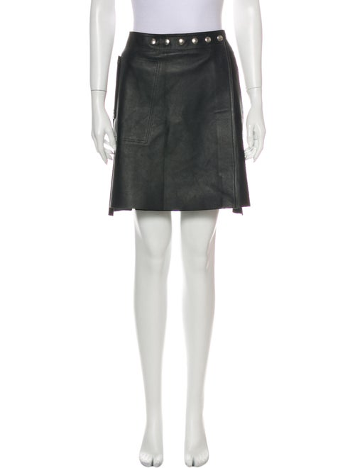 Acne Studios Leather Mini Skirt Black