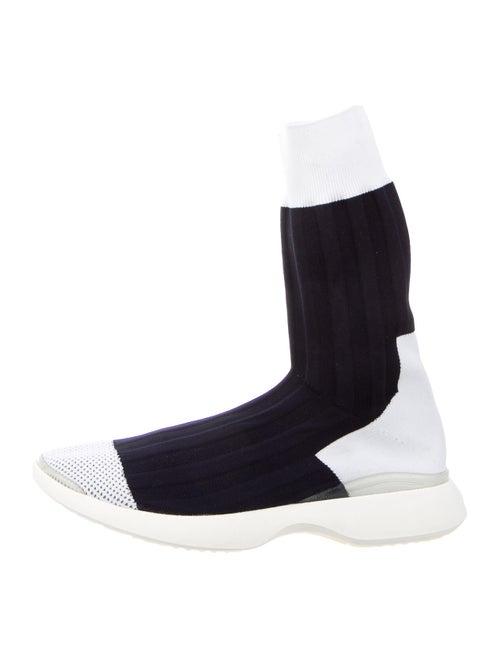 Acne Studios Knit Sock Sneakers navy