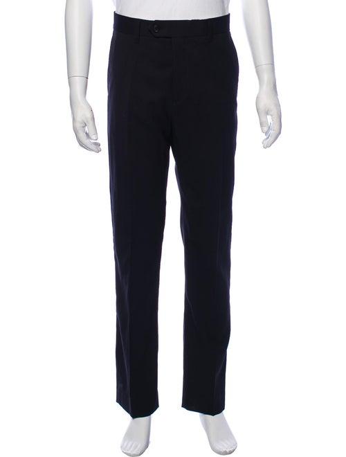 Acne Studios Wool Flat Front Pants blue