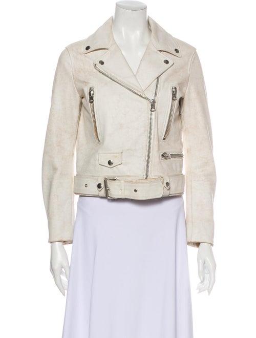 Acne Studios Leather Biker Jacket White