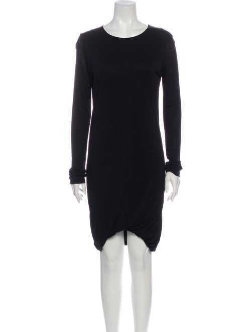 Acne Studios Crew Neck Knee-Length Dress Black
