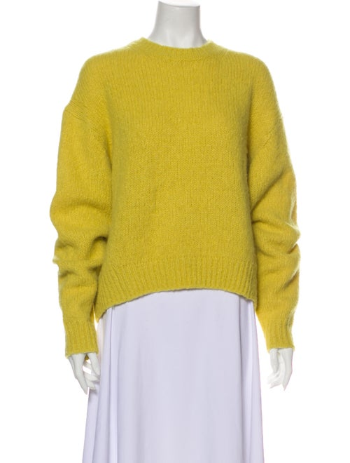 Acne Studios Alpaca Crew Neck Sweater Yellow