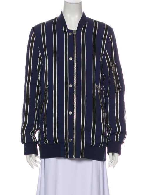 Acne Studios Striped Bomber Jacket Blue