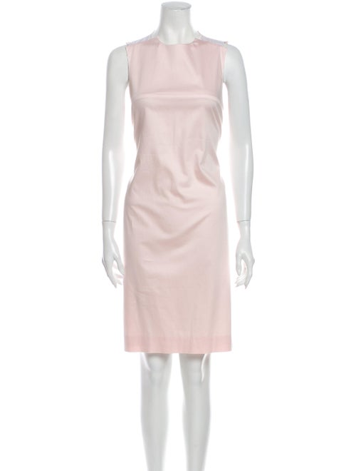 Acne Studios Crew Neck Knee-Length Dress Pink