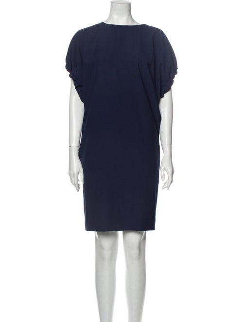 Acne Studios Crew Neck Knee-Length Dress Blue