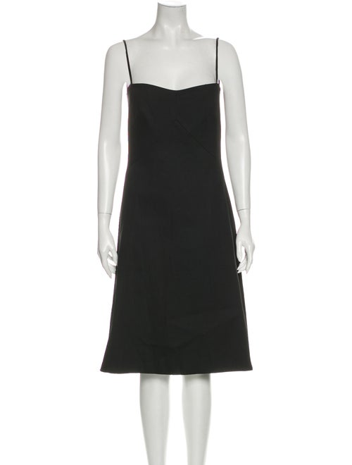 Acne Studios Square Neckline Knee-Length Dress w/
