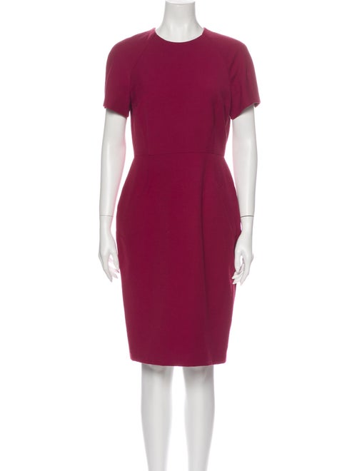 Acne Studios Crew Neck Knee-Length Dress Red