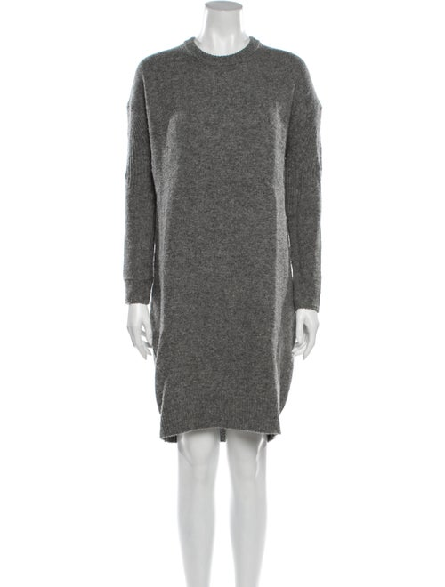 Acne Studios Lambswool Knee-Length Dress Grey