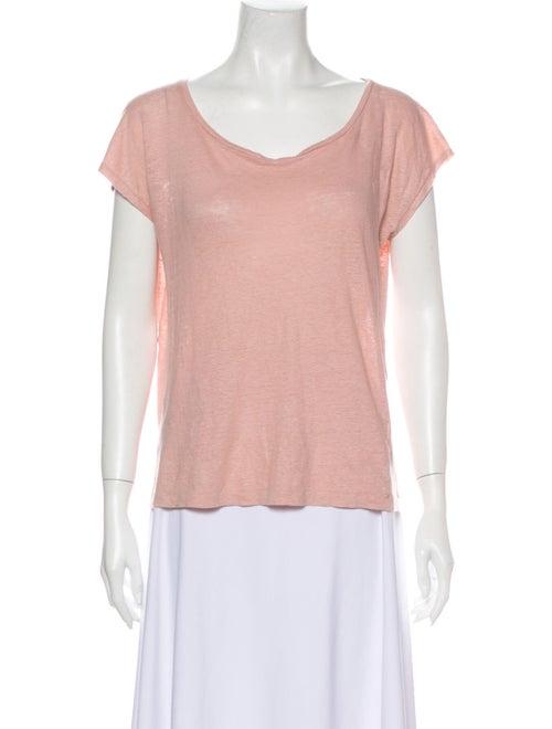 Acne Studios Linen Scoop Neck T-Shirt Orange