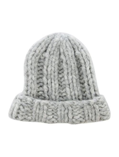 Acne Studios Chunky Knit Alpaca Beanie grey