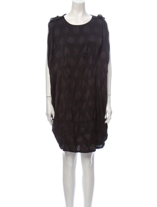 Acne Studios Printed Knee-Length Dress Black