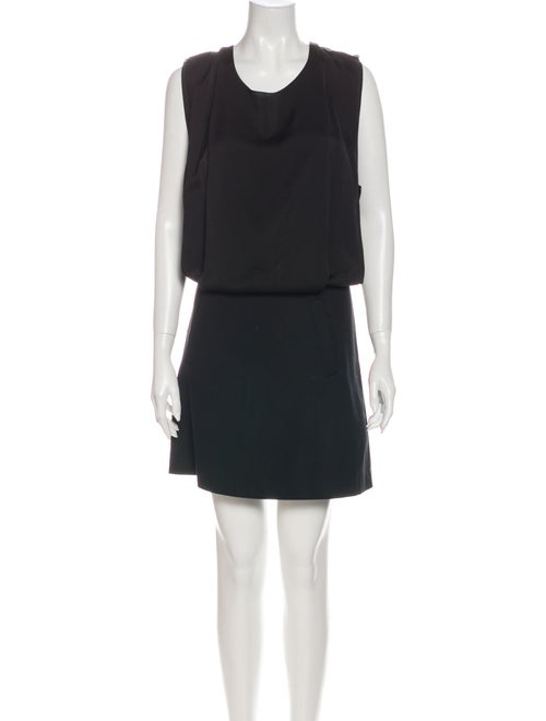 Acne Studios Scoop Neck Knee-Length Dress Black