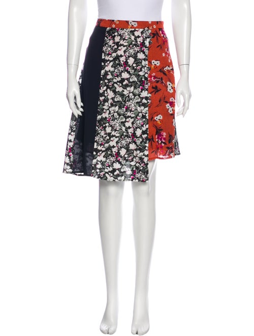 Acne Studios Floral Print Knee-Length Skirt Red