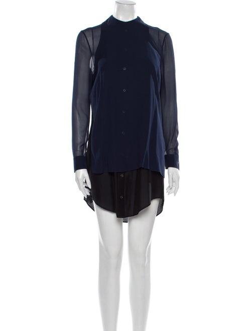 Acne Studios Silk Mini Dress Blue