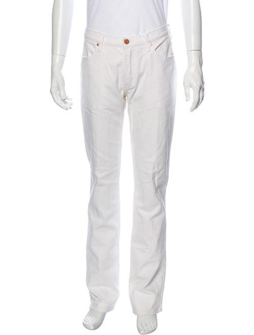 Acne Studios Straight-Leg Jeans White