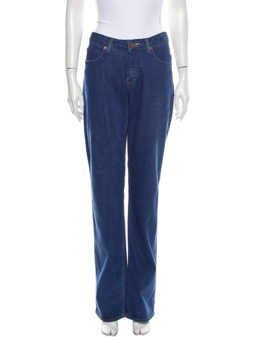 Acne Studios Mid-Rise Straight Leg Jeans Blue