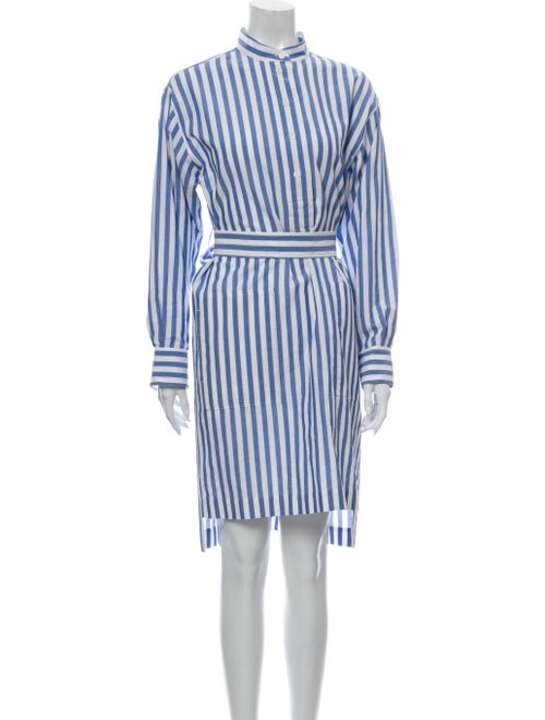 Acne Studios Striped Knee-Length Dress Blue
