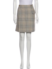 Acne Studios Plaid Print Mini Skirt