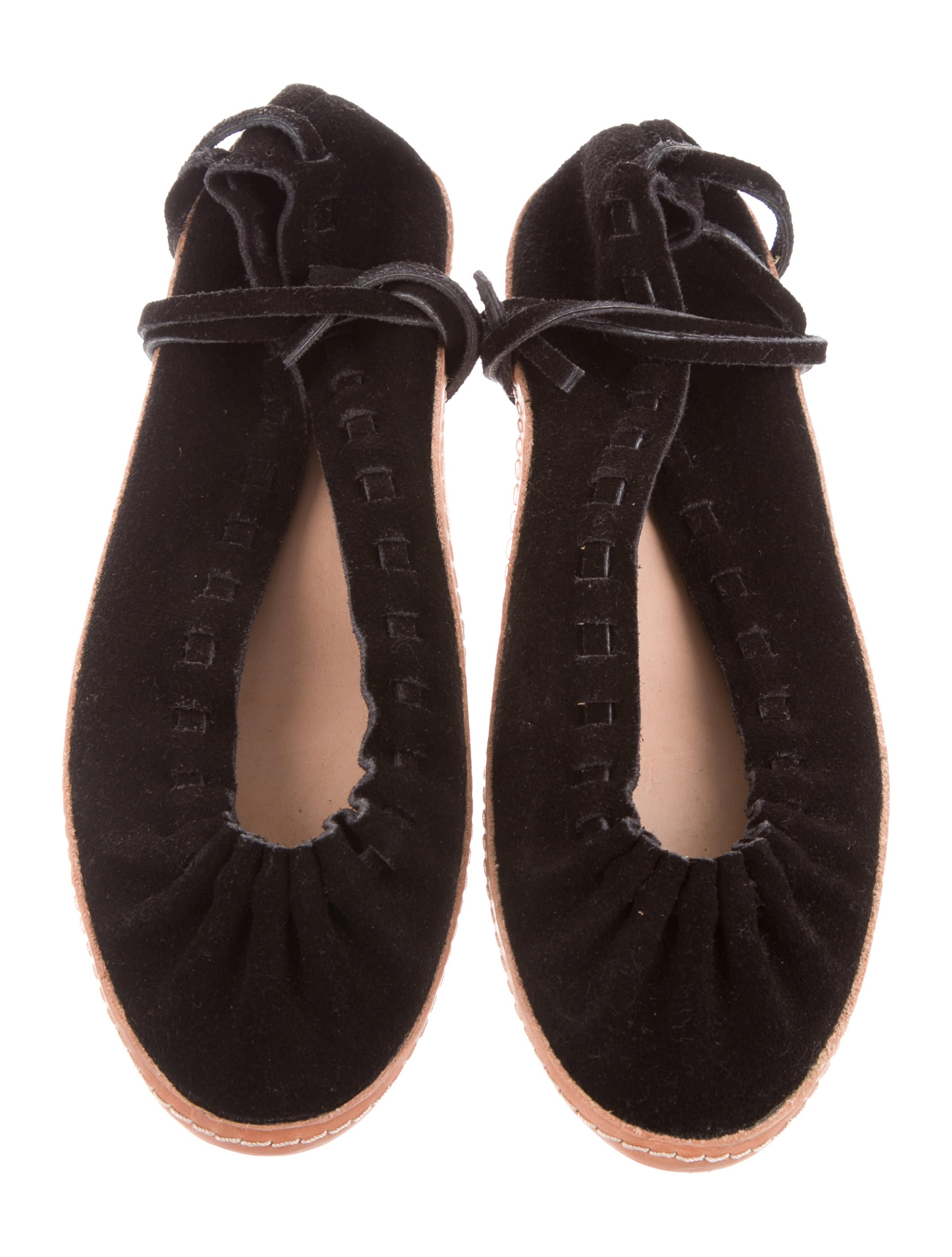 big discount cheap price sale really A Détacher Suede Lace-Up Flats browse sale new styles xCmOkp