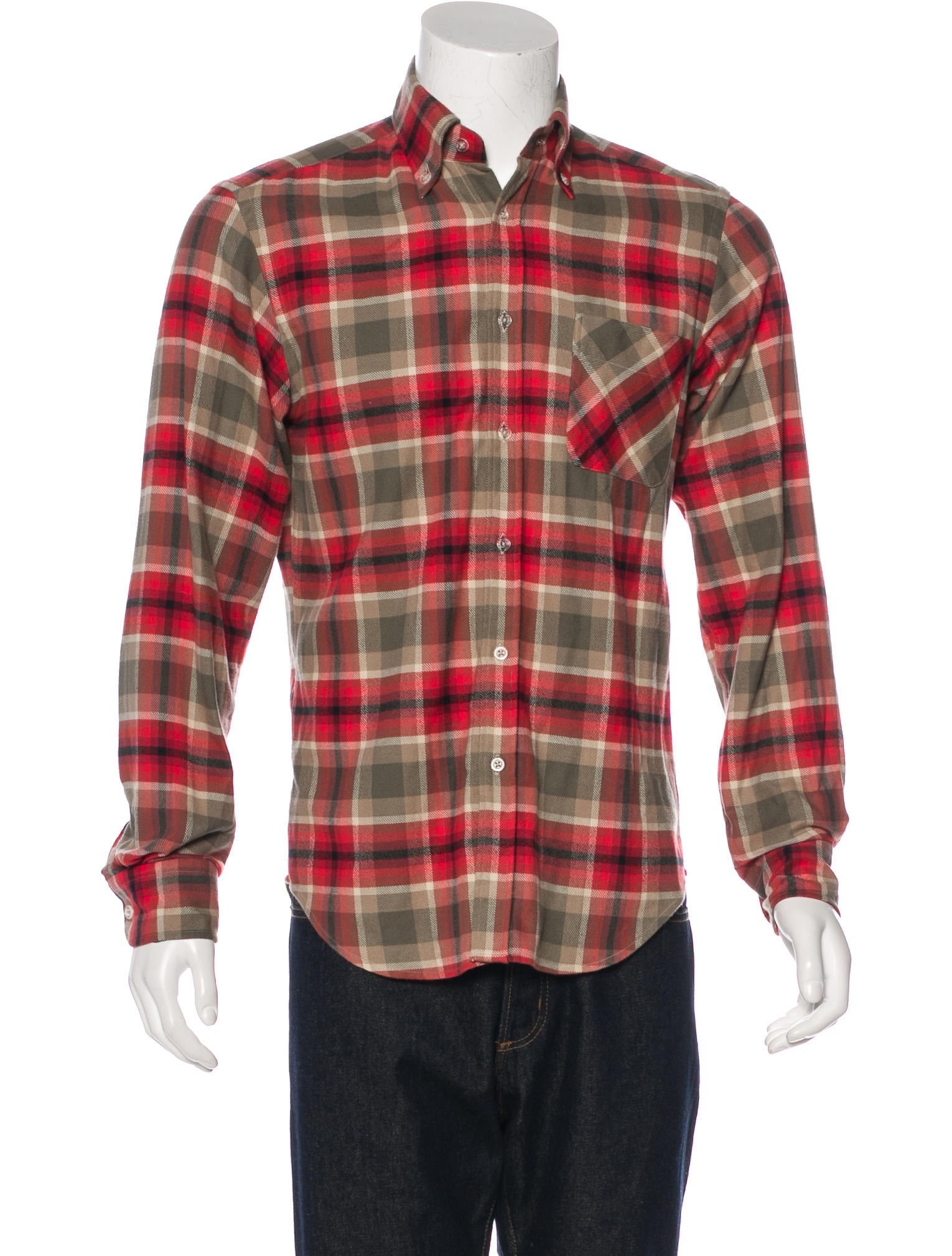 Adam kimmel plaid flannel shirt clothing adk20049 for Black watch plaid flannel shirt