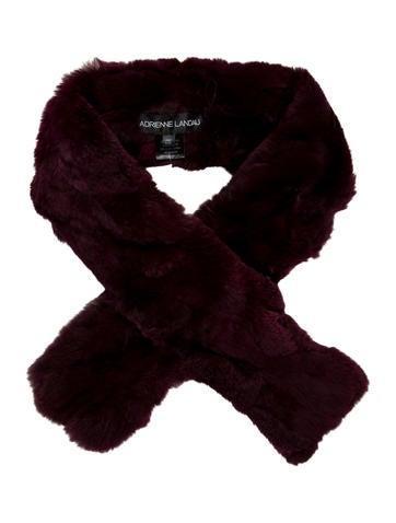 Adrienne Landau Burgundy Fur Stole w/ Tags