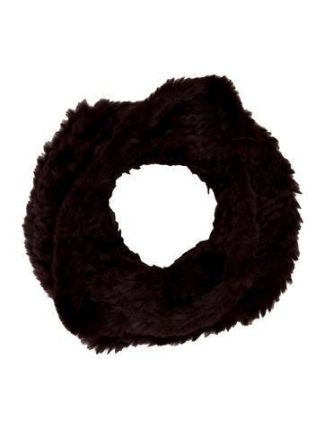 Adrienne Landau Knitted Fur Snood w/ Tags None