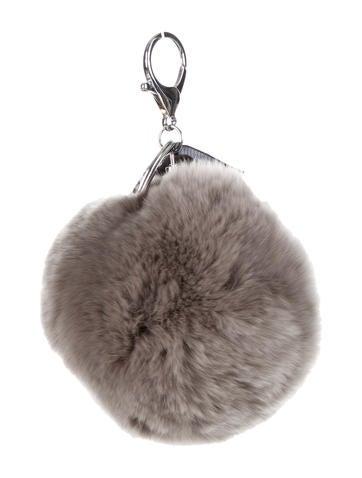 Adrienne Landau Fur Pom Keychain w/ Tags None